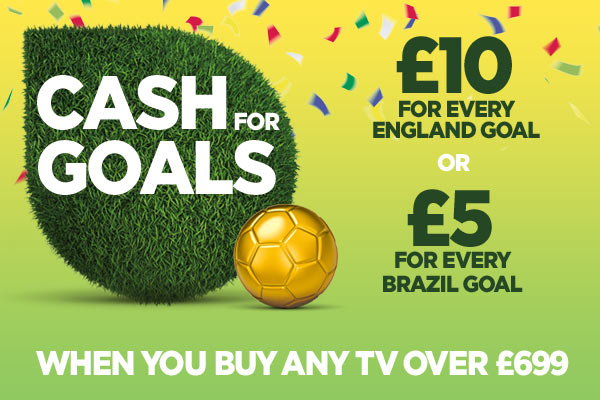 Get cash back when you buy any TV over £699