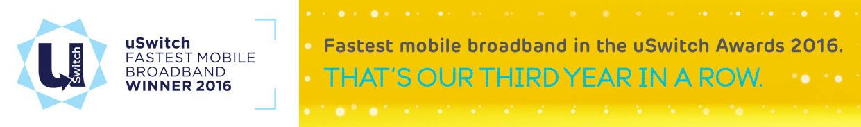 Fastest mobile broadband - Award winner