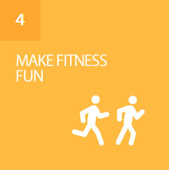 Set daily goals, earn badges, and challenge friends to get fit
