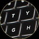 Backlit keys