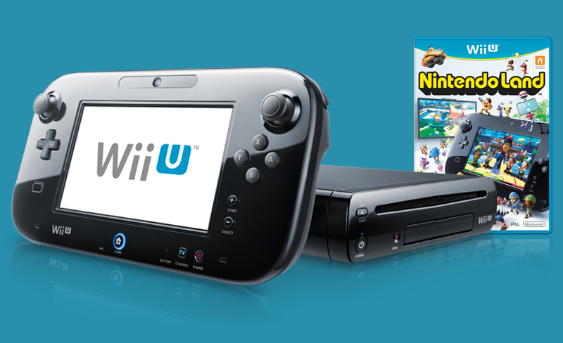 wii u console, gamepad and nintendoland