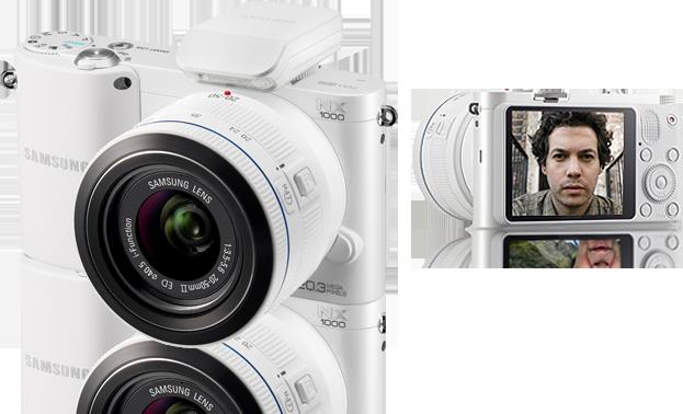 Samsung NX1000 in white