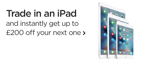 Get up to £200 off your next iPad