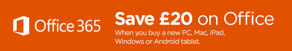 Save £20 on selected Microsoft software